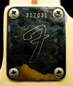 Neck plate and serial number.